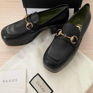 Gucci Houdan 15 Horsebit Platform Loafers